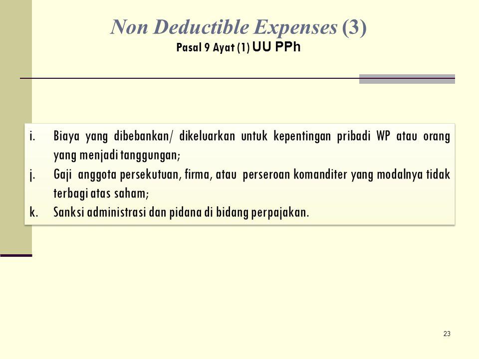 Non Deductible Expenses (3)