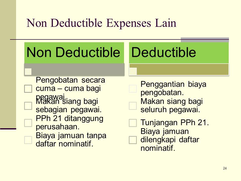 Non Deductible Expenses Lain