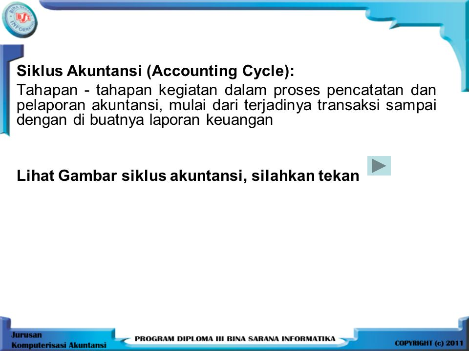 Siklus Akuntansi (Accounting Cycle):
