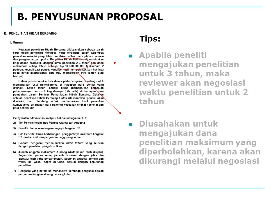 B. PENYUSUNAN PROPOSAL Tips: