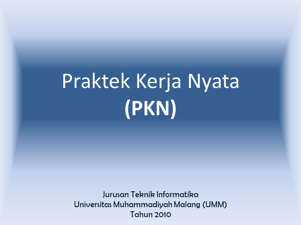 Praktek Kerja Nyata (PKN)