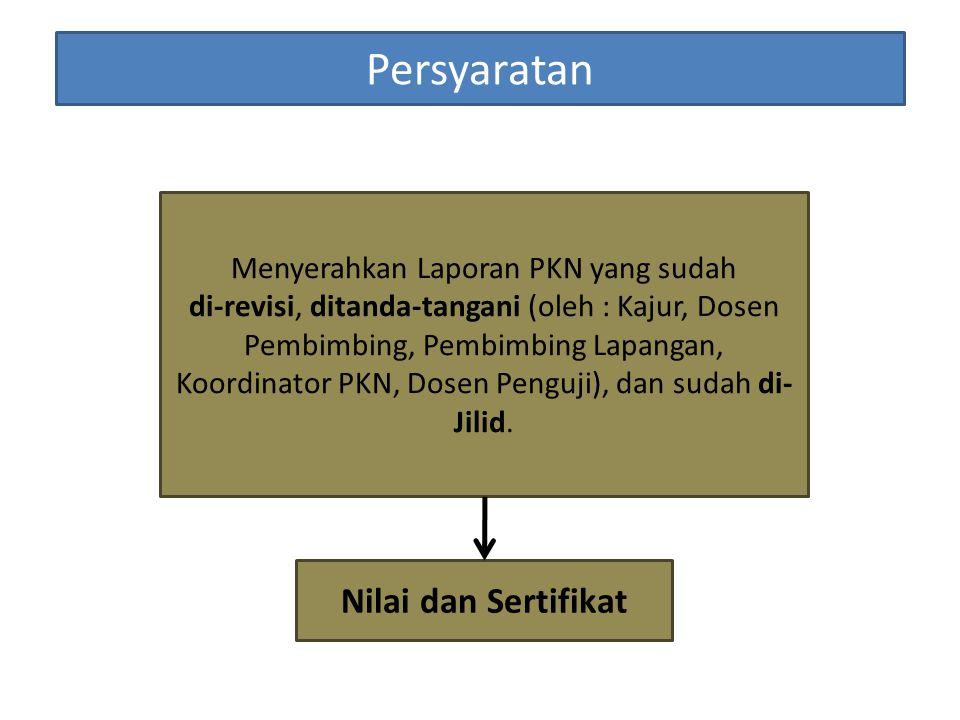 Menyerahkan Laporan PKN yang sudah