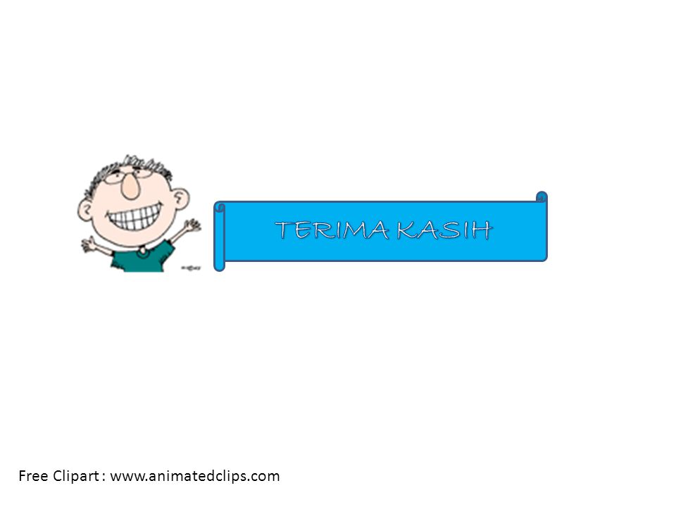 TERIMA KASIH Free Clipart : www.animatedclips.com