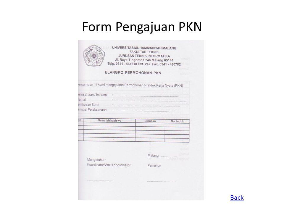 Form Pengajuan PKN Back