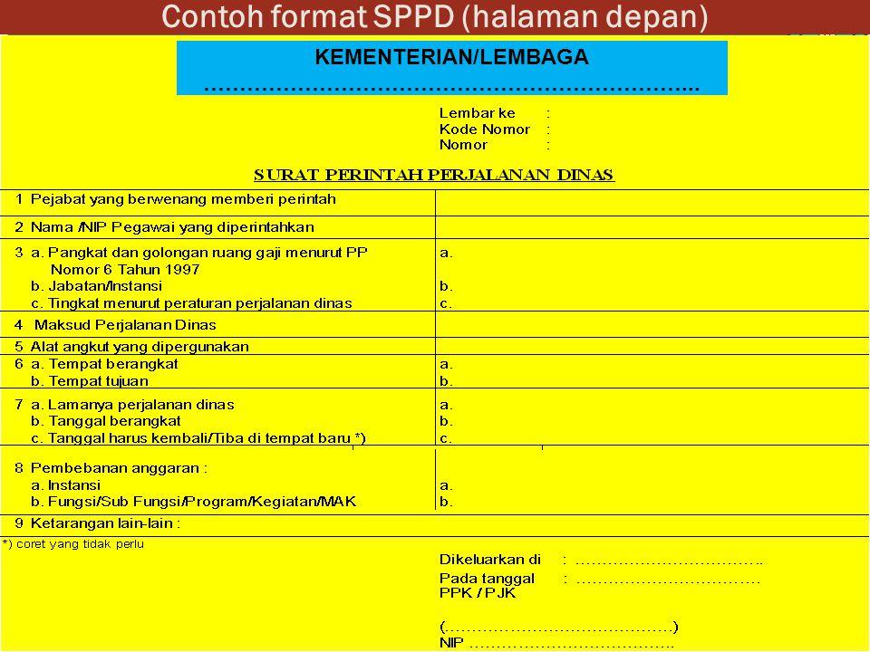 Contoh format SPPD (halaman depan)