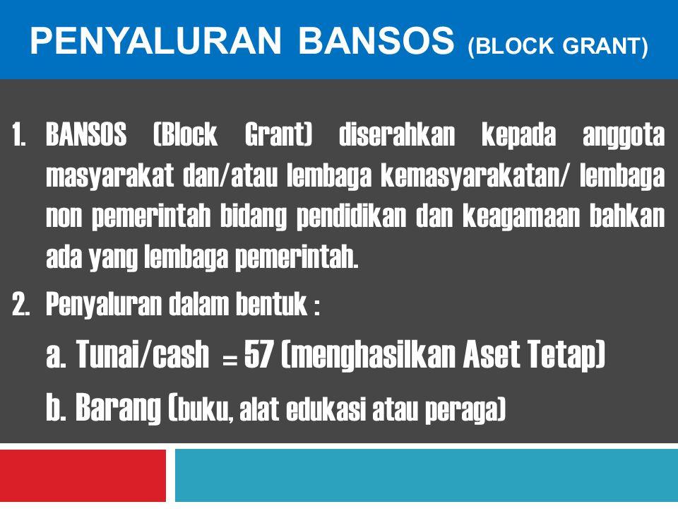 Penyaluran bansos (block grant)