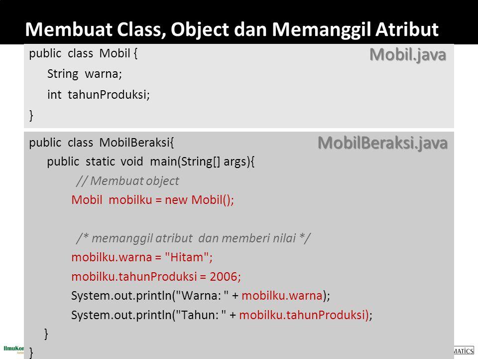 Membuat Class, Object dan Memanggil Atribut