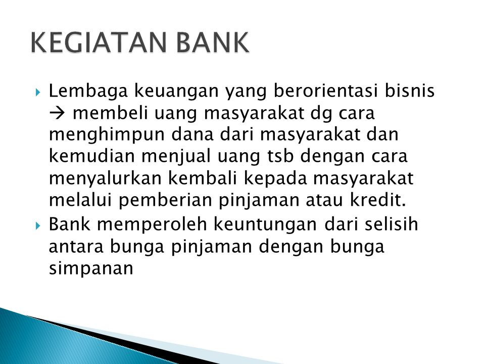 KEGIATAN BANK