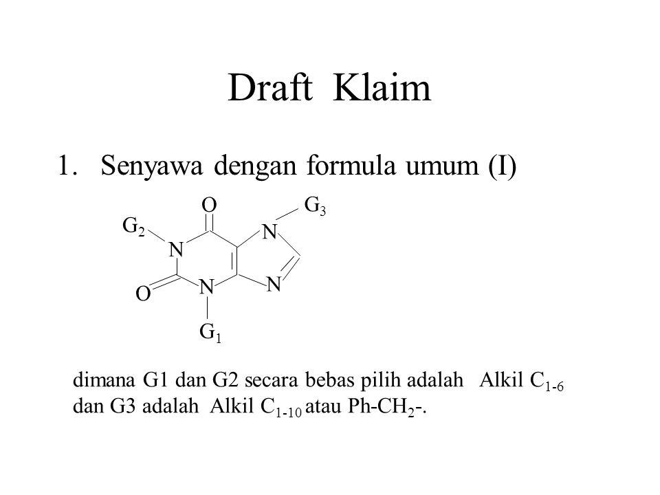 Draft Klaim Senyawa dengan formula umum (I) O G3 G2 N G1