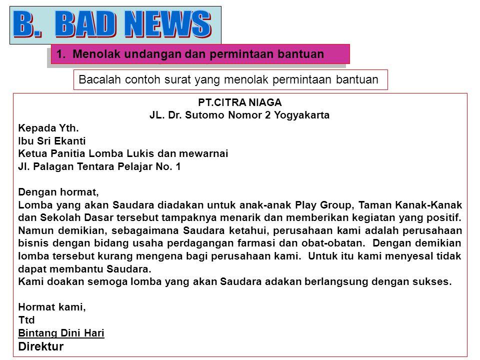 JL. Dr. Sutomo Nomor 2 Yogyakarta