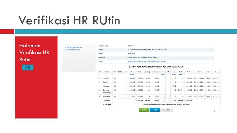 Verifikasi HR RUtin Halaman Verifikasi HR Rutin