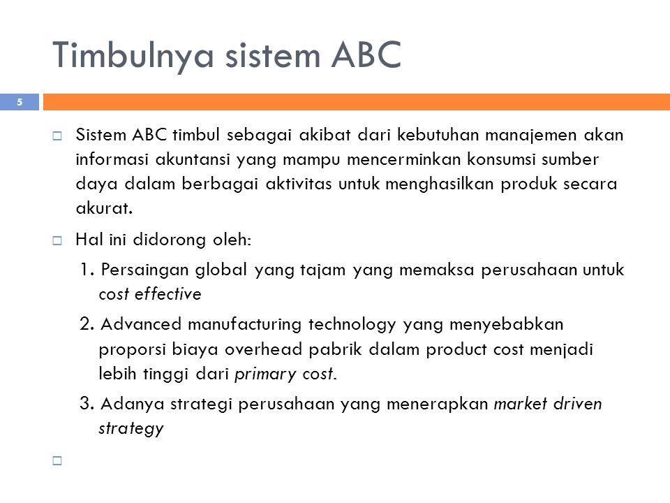 Timbulnya sistem ABC
