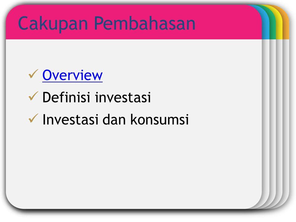 Cakupan Pembahasan Template Overview Definisi investasi
