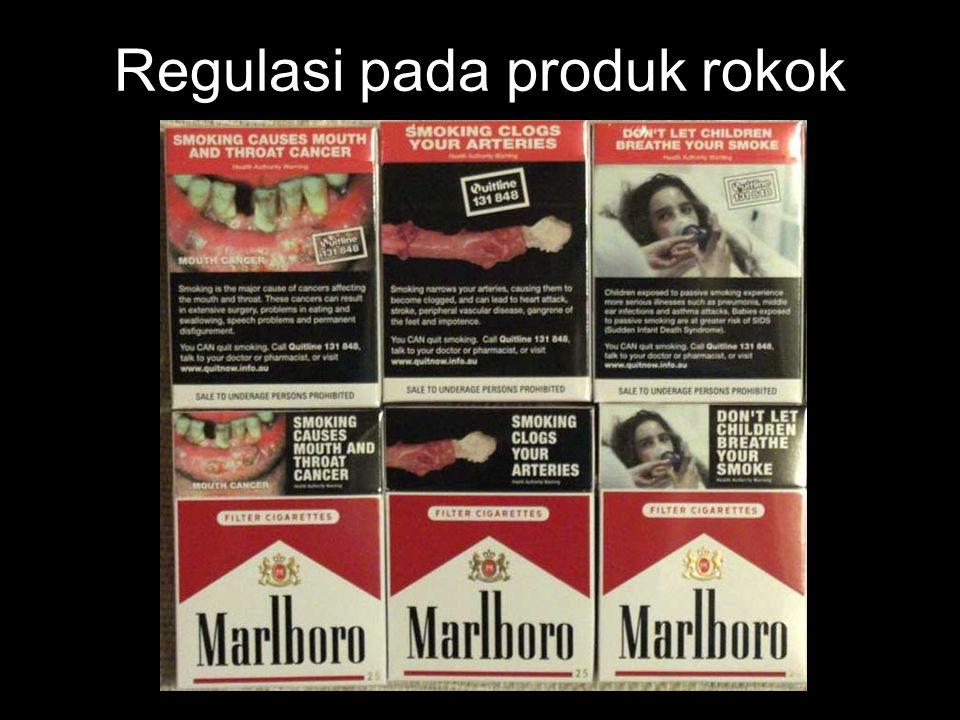 Regulasi pada produk rokok