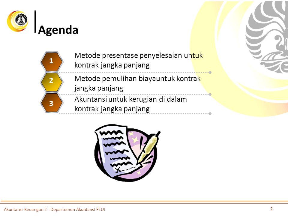 Agenda Metode presentase penyelesaian untuk kontrak jangka panjang 1