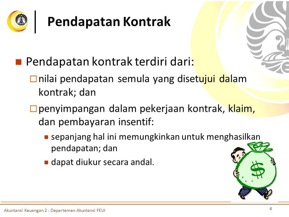 Pendapatan Kontrak Pendapatan kontrak terdiri dari: