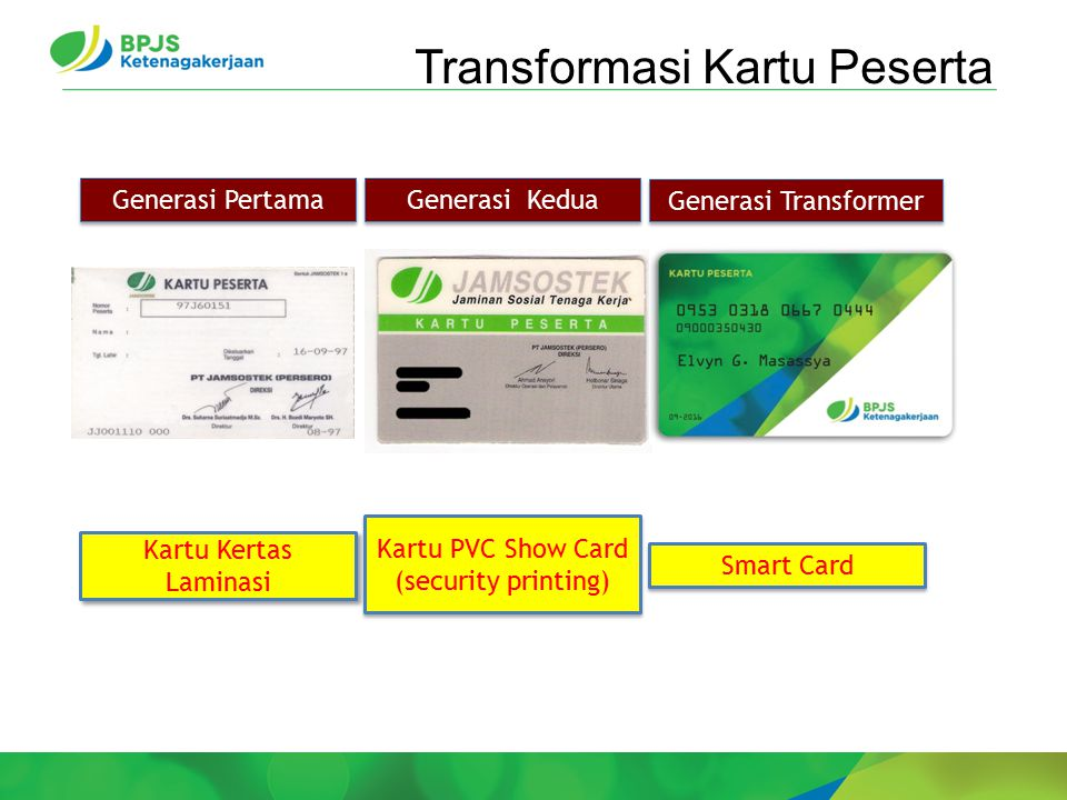 Transformasi Kartu Peserta