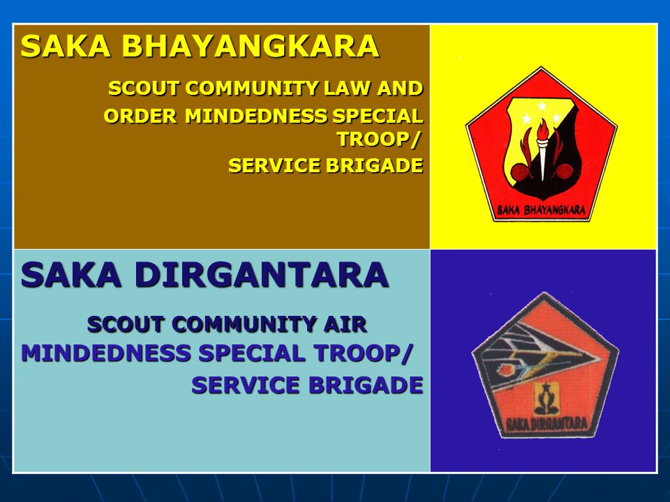 SAKA DIRGANTARA SCOUT COMMUNITY AIR MINDEDNESS SPECIAL TROOP/