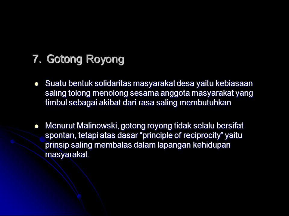 7. Gotong Royong