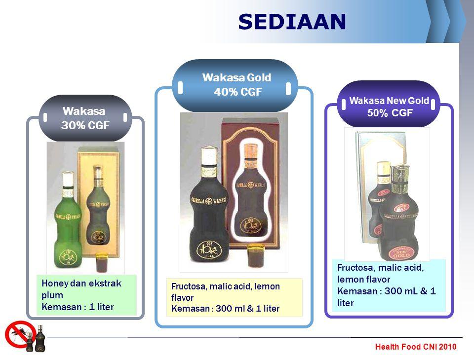 SEDIAAN Wakasa Gold 40% CGF Wakasa 30% CGF 50% CGF