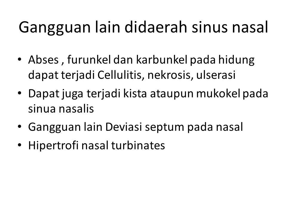 Gangguan lain didaerah sinus nasal