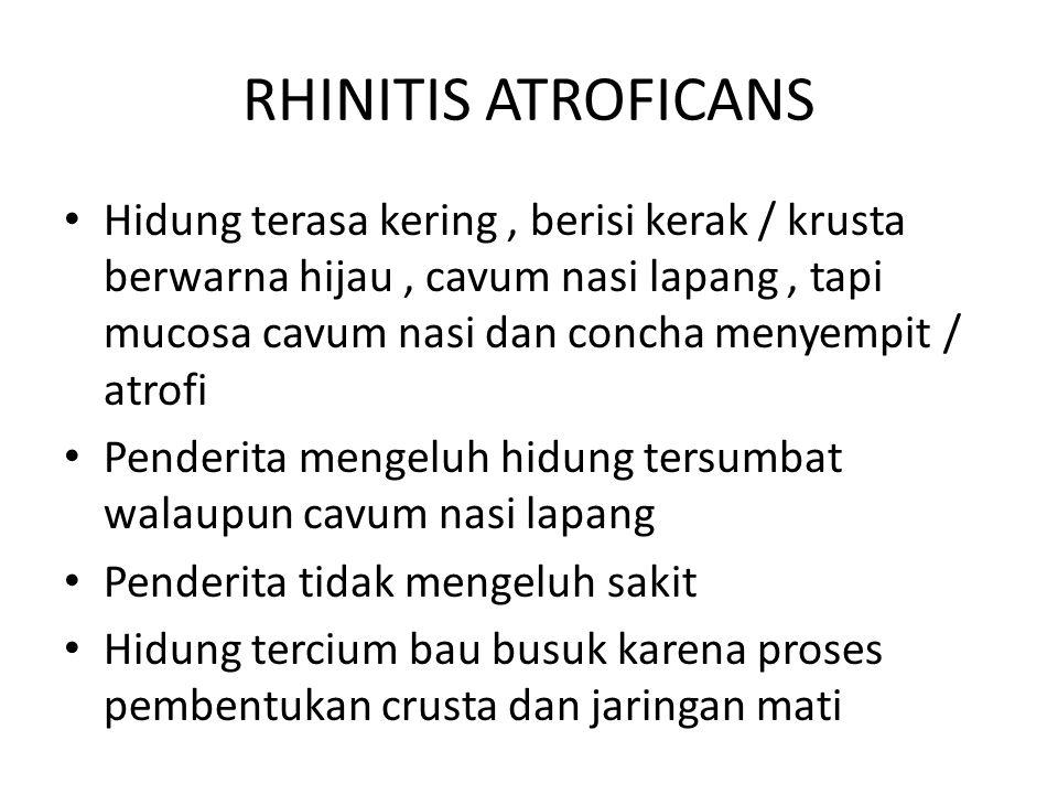 RHINITIS ATROFICANS