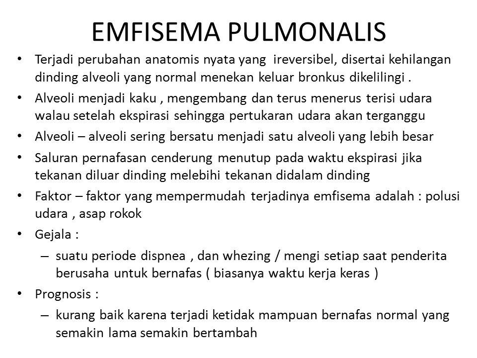 EMFISEMA PULMONALIS