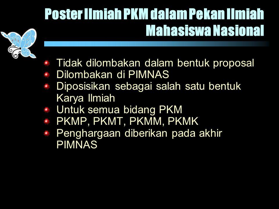 Poster Ilmiah PKM dalam Pekan Ilmiah Mahasiswa Nasional