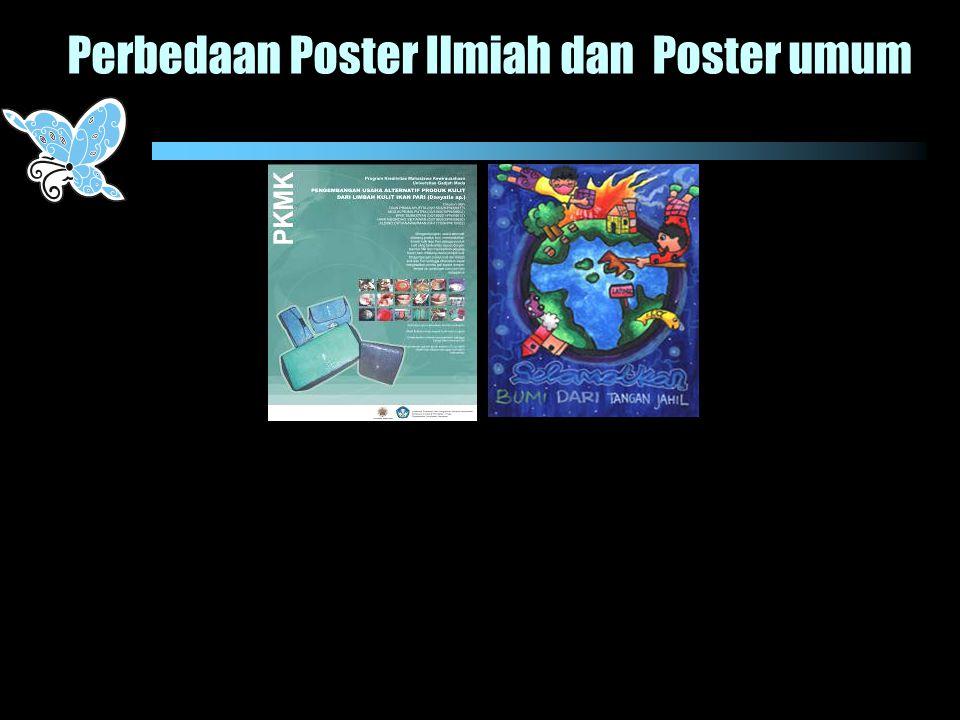 Perbedaan Poster Ilmiah dan Poster umum