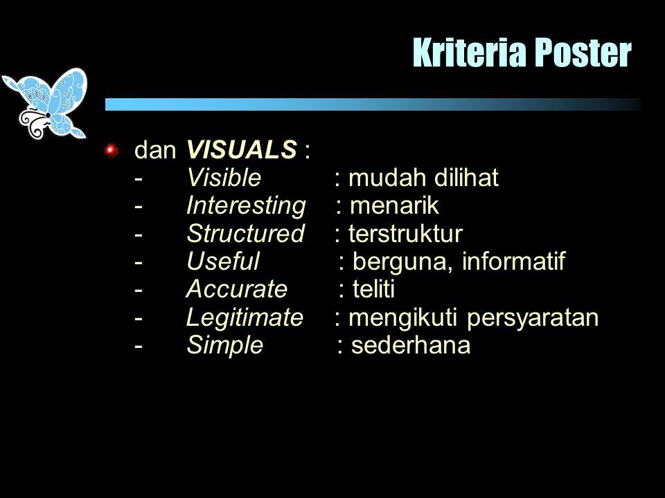 Kriteria Poster