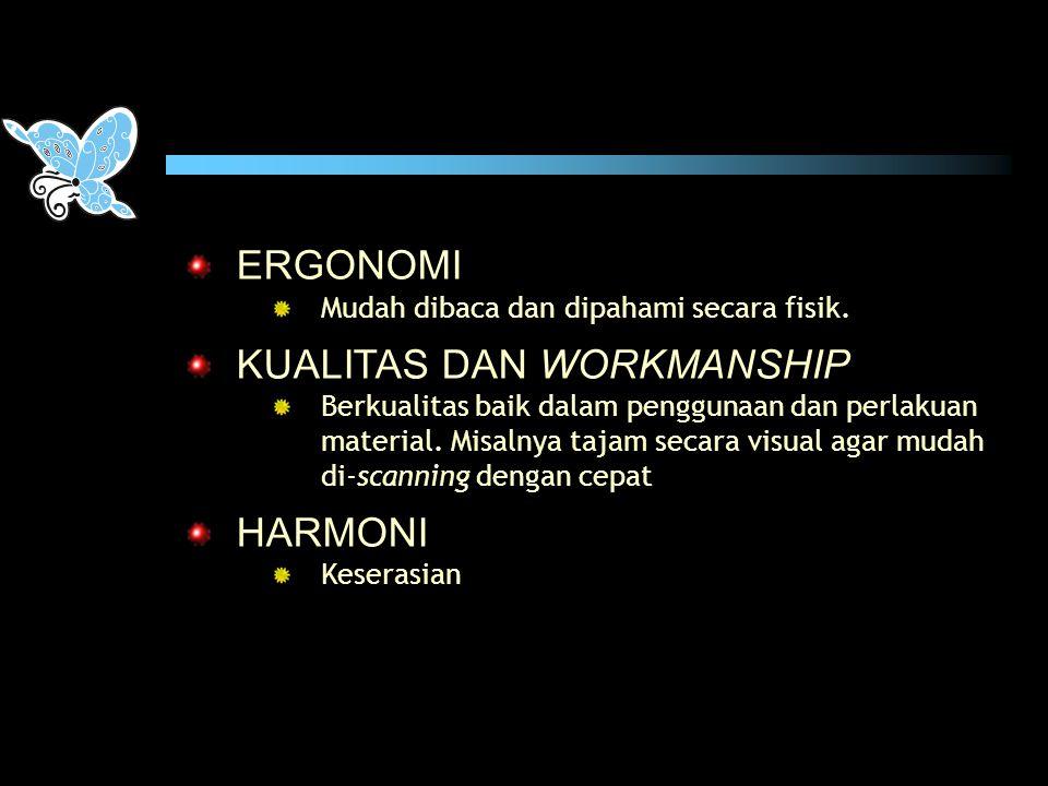 KUALITAS DAN WORKMANSHIP