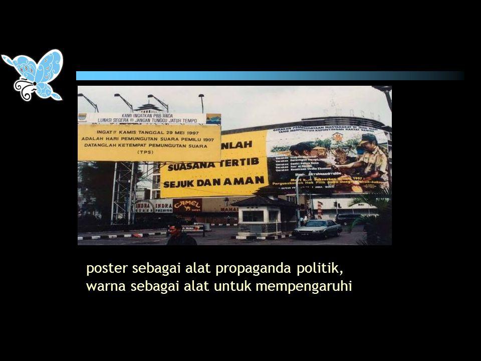 poster sebagai alat propaganda politik,