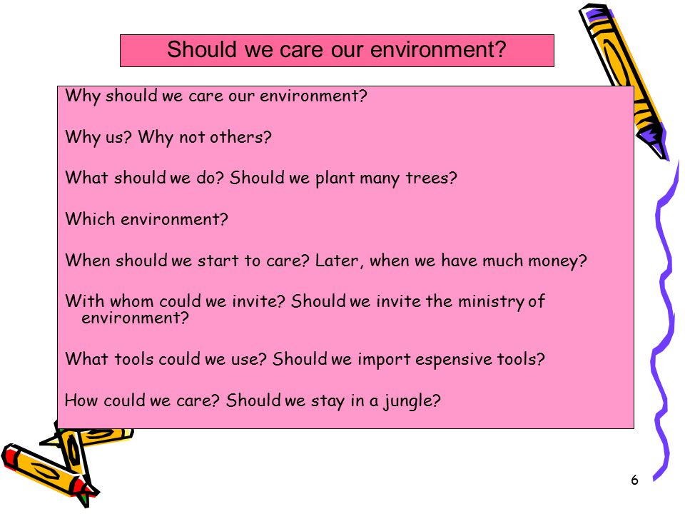 Should we care our environment