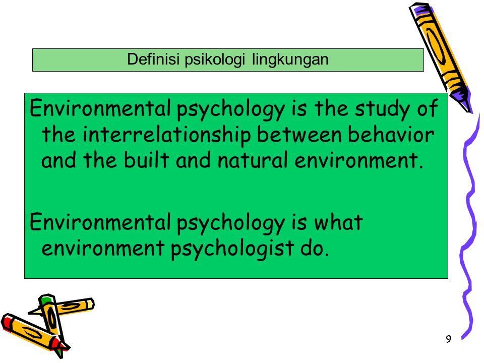 Definisi psikologi lingkungan