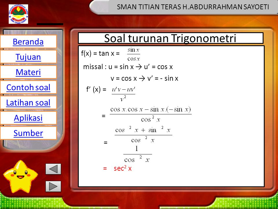 Soal turunan Trigonometri