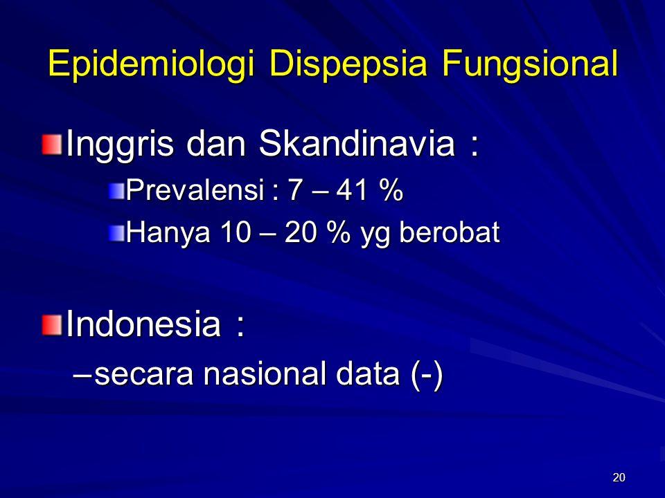 Epidemiologi Dispepsia Fungsional