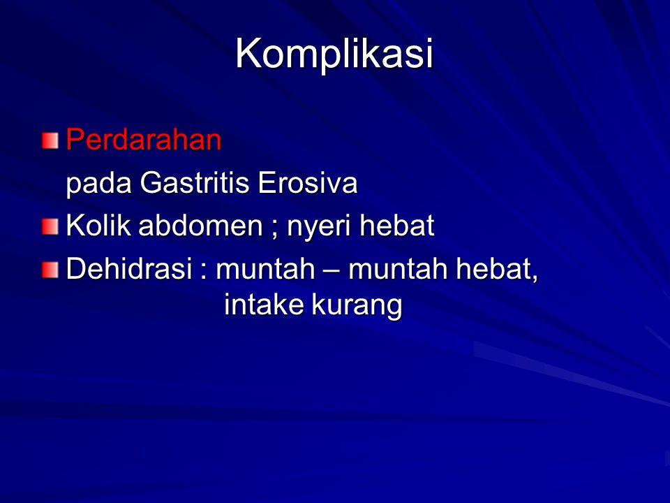 Komplikasi Perdarahan pada Gastritis Erosiva
