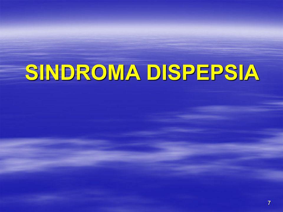 SINDROMA DISPEPSIA