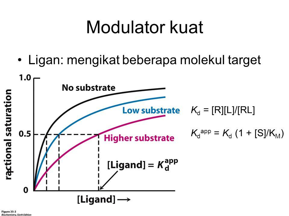 Modulator kuat Ligan: mengikat beberapa molekul target