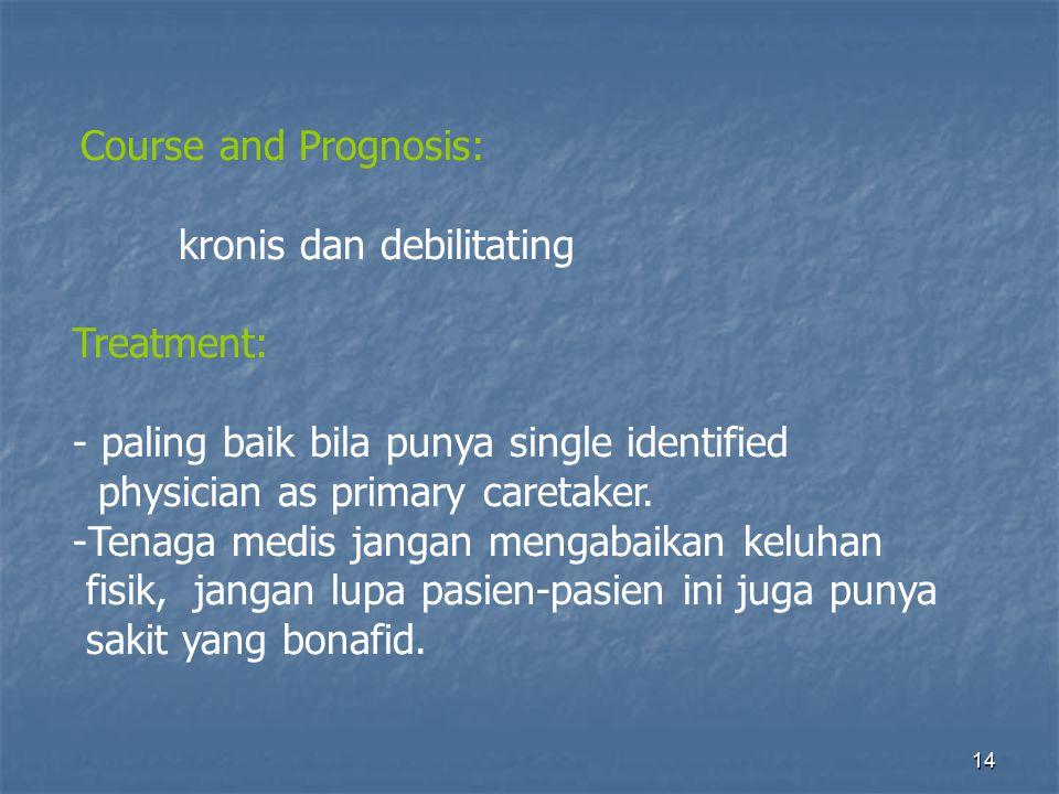 kronis dan debilitating Treatment: