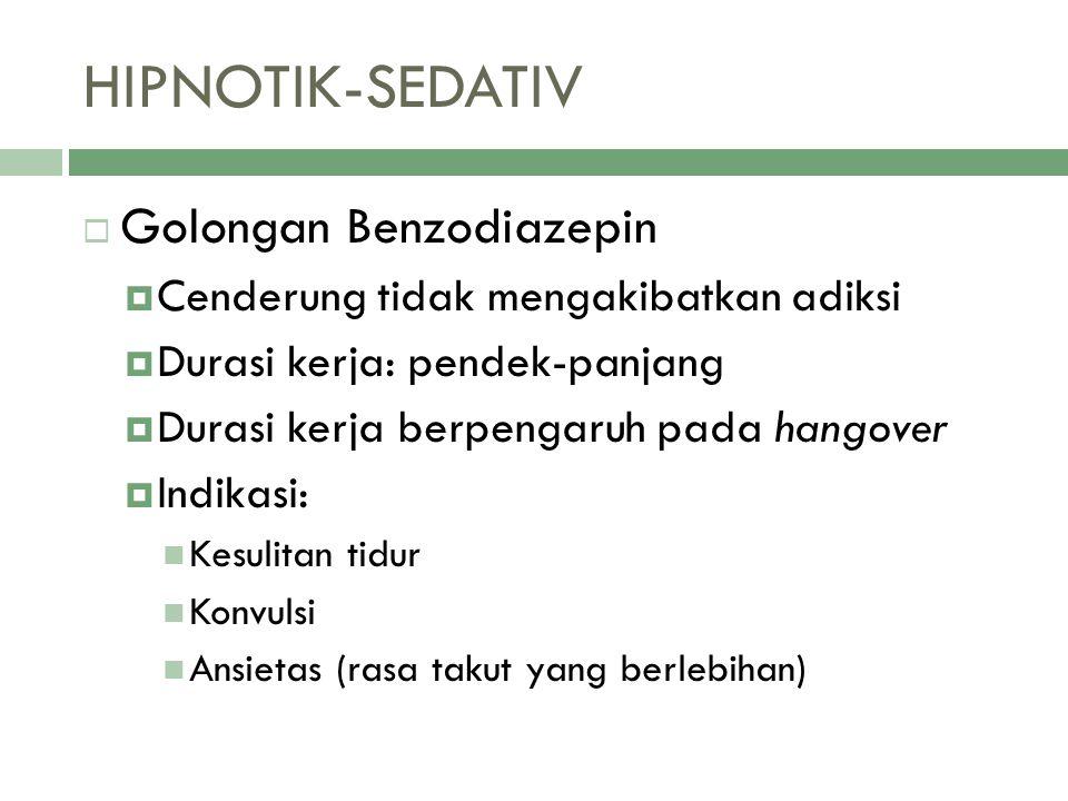 HIPNOTIK-SEDATIV Golongan Benzodiazepin