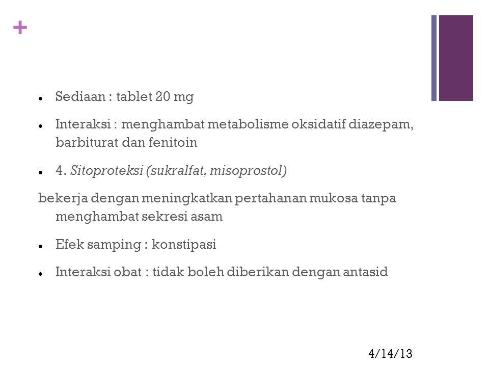 4. Sitoproteksi (sukralfat, misoprostol)