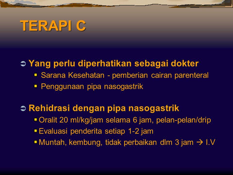 TERAPI C Yang perlu diperhatikan sebagai dokter