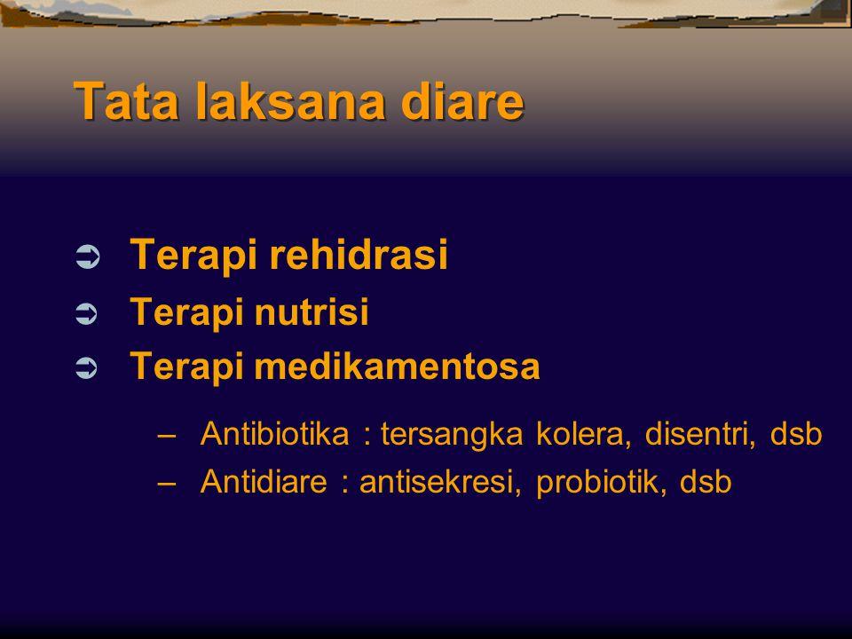 Tata laksana diare Terapi rehidrasi Terapi nutrisi