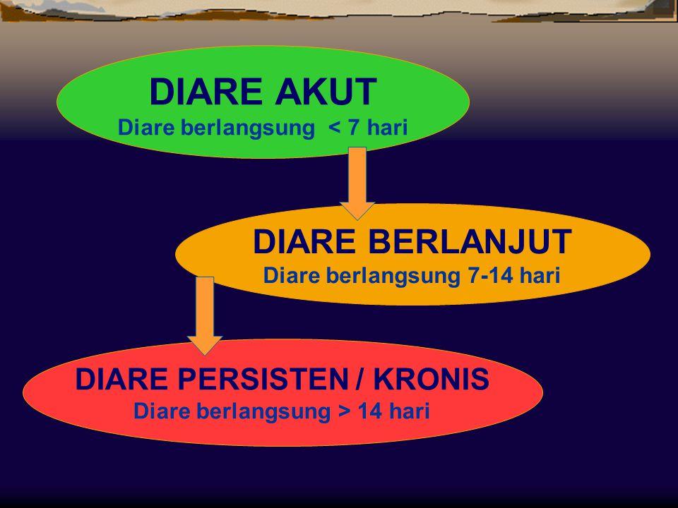 DIARE AKUT DIARE BERLANJUT DIARE PERSISTEN / KRONIS