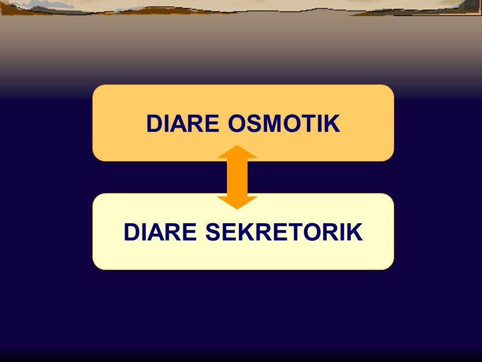 DIARE OSMOTIK DIARE SEKRETORIK
