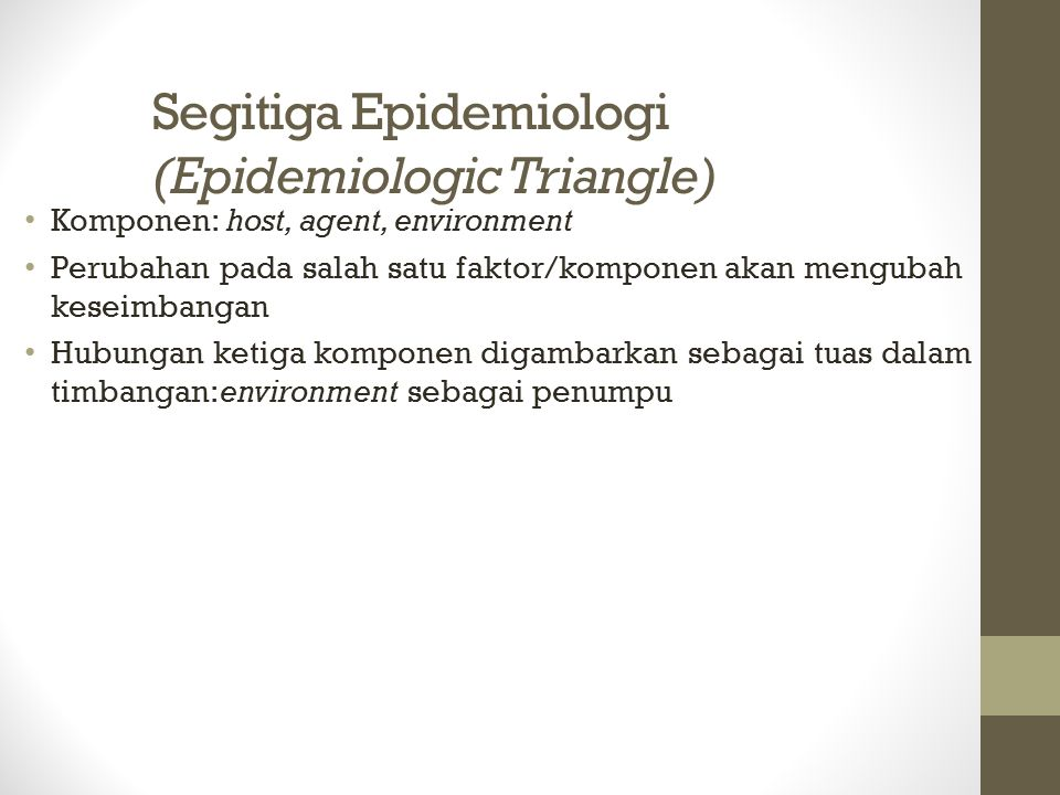 Segitiga Epidemiologi (Epidemiologic Triangle)