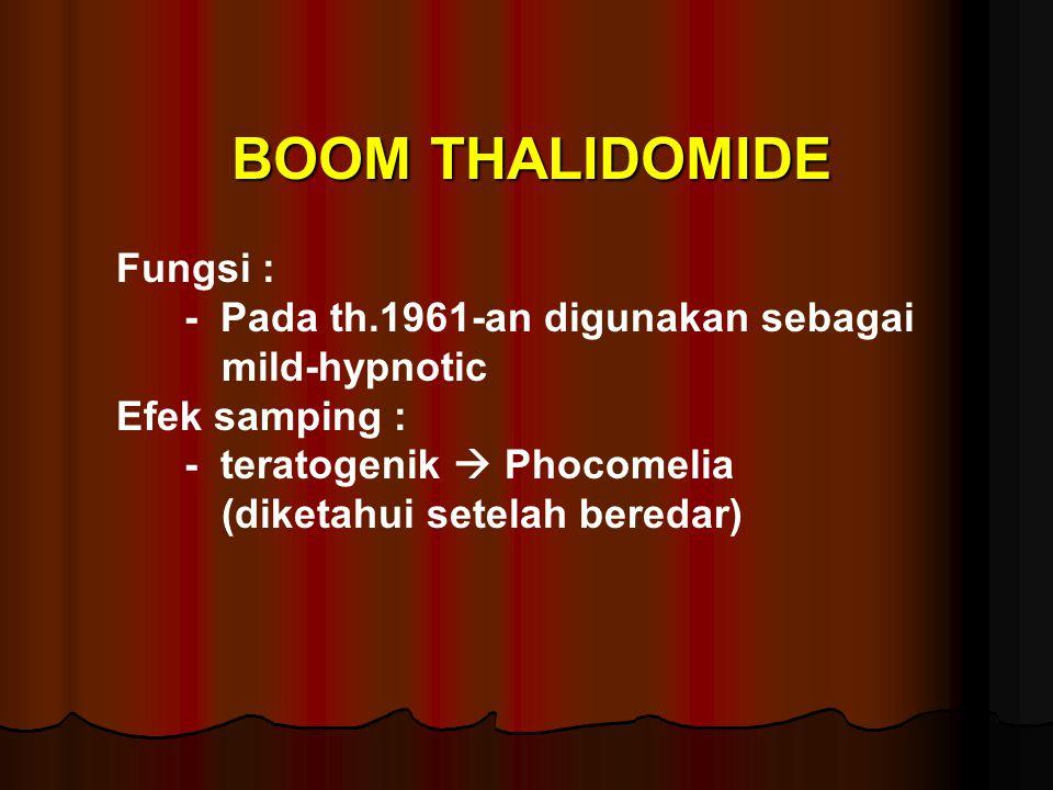 BOOM THALIDOMIDE Fungsi :