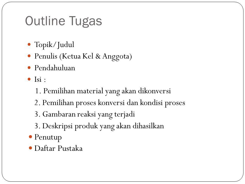 Outline Tugas Penutup Daftar Pustaka Topik/Judul