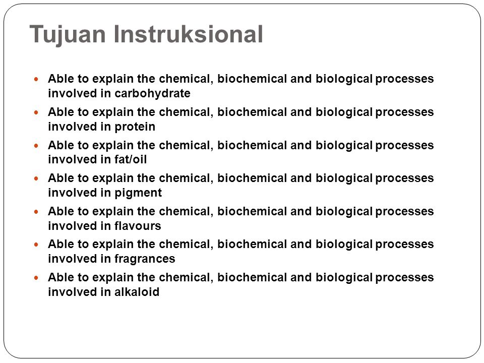 Tujuan Instruksional Able to explain the chemical, biochemical and biological processes involved in carbohydrate.